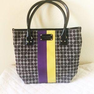 kate spade Handbags - Kate Spade purple & black combo tote
