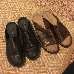 CLARKS mules/sandals 2 pairs WOMENS SIZE 8
