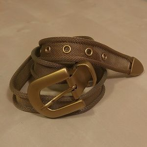 Accessories - Vintage metal mesh gold belt