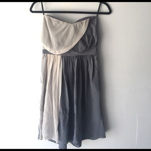 Zimmermann grey silk mini party dress 0