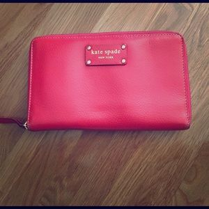 kate spade Handbags - Kate Spade Coral Passport Travel Wallet