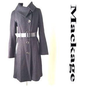 mackage Jackets & Blazers - MACKAGE black leather trim COAT Small S