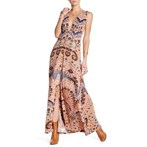 New Free People Other Days Floral Print Maxi Dress