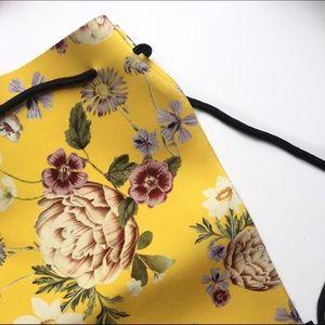 triangl swimwear Handbags - {Triangl} NWOT Delilah Fiore Giallo Neoprene Bag