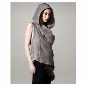 Helmut Lang Jackets & Blazers - Helmut Lang Weather Hood Shearling Vest