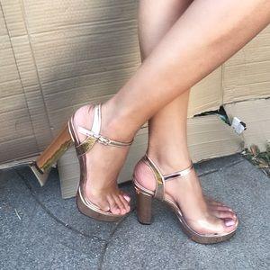 """Louis Vuitton Shoes - 4.5"""" Rose gold platform"""