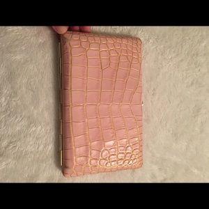 abas Handbags - Light Pink Crocodile Abas Clutch Wallet