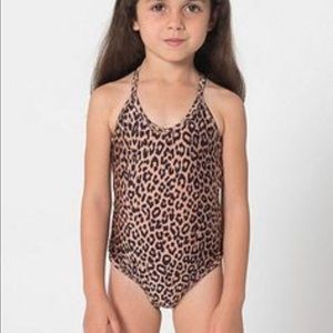 New American Apparel Cheetah One Piece Swim Suit
