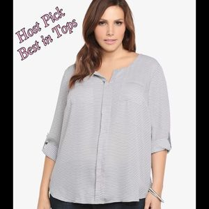 torrid Tops - **Host Pick** Torrid striped tunic blouse