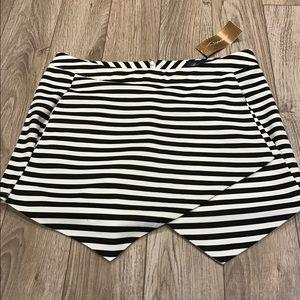 Francesca's Collections Pants - NWT Francesca's Black & White Striped Skort shorts