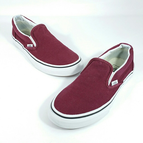 576646ac927576 Vans Shoes - Vans Off the Wall Slip On Burgundy Shoes Wo s 6