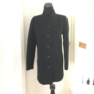 Vintage 1980s coat with puff sleeves