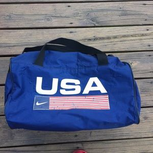 USA Nike Red White n Blue Duffle