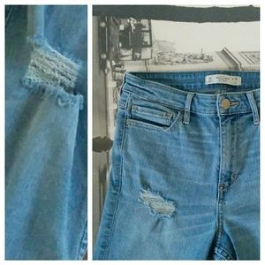 Abercrombie & Fitch Denim - Abercrombie Distressed Skinny Jeans Light 6R