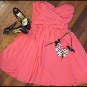 Mystic Dresses & Skirts - Strapless Pink Chiffon Dress Size Large