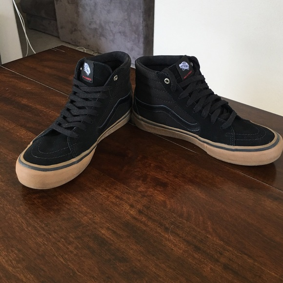 92e097f52a19 Vans Shoes - Vans Sk8-Hi Pro Black Gum Shoes