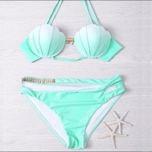 Boutique Other - 🐠Mint Green Ombre Sexy Shell Bikini Set🐠
