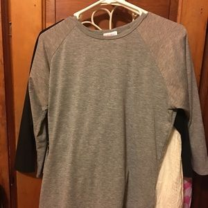 Lularoe Randy with sparkly sleeves