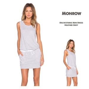 Monrow Dresses & Skirts - ✨NWT Monrow Heather Grey Drawstring Mini Dress✨