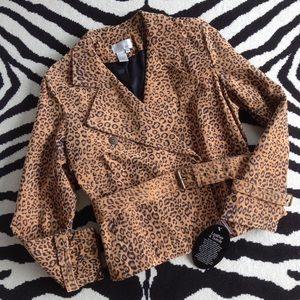 Spiegel Jackets & Blazers - Spiegel Cheetah Print Leather Jacket