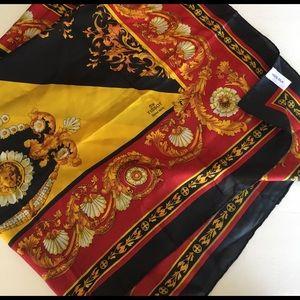 Vintage TISSOT Swiss silk scarf foulard