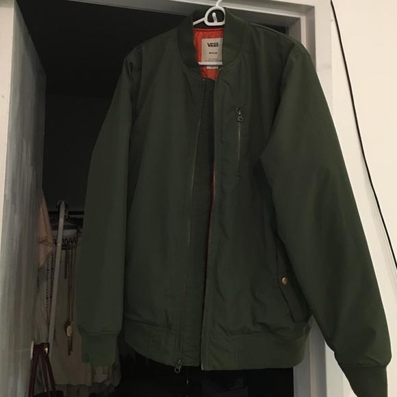 5cea1390a8f7d0 NWOT MEN s VANS olive green bomber jacket. M 58daf9a36d64bcc32802312d