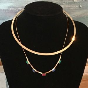 Nordstrom Jewelry - NWT Stunning Layered Collared Crystal Necklace