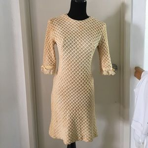 Vintage knit sweater dress