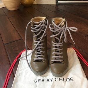 Authentic!!! See by chloe wedges ankle shoes