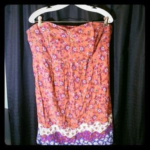 Pure Energy Dresses & Skirts - Strapless floral dress NWOT