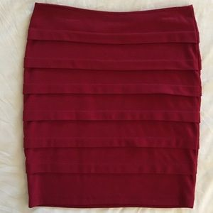 Love Culture Dresses & Skirts - Love Culture Red Pleated Pencil Skirt