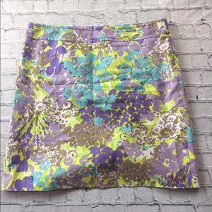 Talbots Pastel Floral Skirt