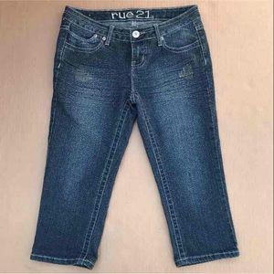 Rue 21 Capri Cropped Jeans Size 3/4