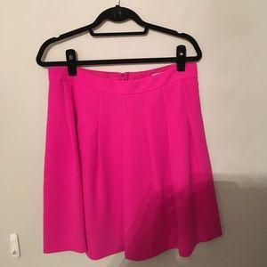 Fuschia Pleated J.Crew Skirt