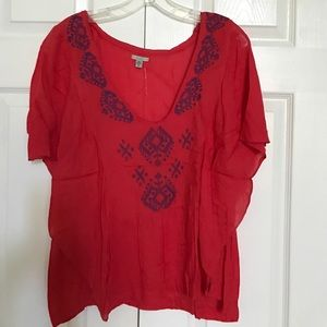 Red/blue Urban Outfitters Ecote top