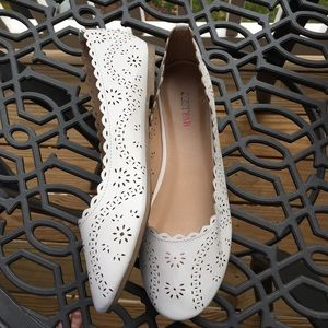 JustFab Shoes - JustFab Gadry White Flats