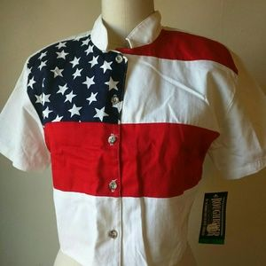 Roughrider  Tops - Vintage 90's circle T roughrider NOS Western Shirt