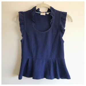 Anthro Royal Blue Peplum