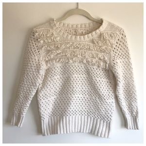 Urban Outfitters Knit Fringe Frill Sweater