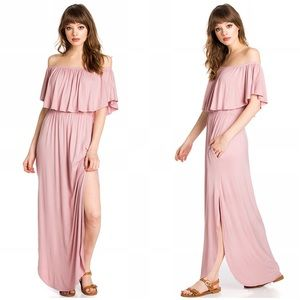Sweet Pea Dresses & Skirts - 💦Coming Soon 🎉Dusty Rose off shoulder Maxi dress