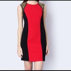 Michael Kors Studded Shoulder Panel Dress