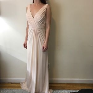 Monique Lhuillier Dresses & Skirts - Monique Lhuillier Bridesmaid Pale Pink Maxi Dress