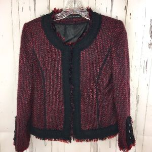 Ivanka Trump Jackets & Blazers - Ivanka Trump Tweed Jacket/Blazer with Chiffon Trim