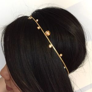 Colette Malouf Accessories - Colette Malouf Headstrap In Gold