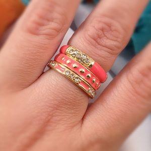 C. Wonder Jewelry - C WONDER Stackable Coral Enamel Rings