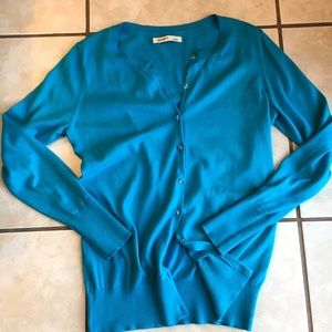 Amy Byer Tops - Beautiful Blue Cardigan with Jewel Buttons