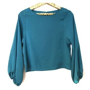 Naven Tops - BRAND NEW NAVEN CROP SILK BLOUSE