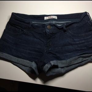 Hollister Pants - Hollister dark jean shorts