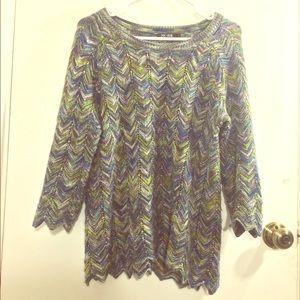 NIC + ZOE Sweaters - Nic + Zoe Chevron Knit Sweater
