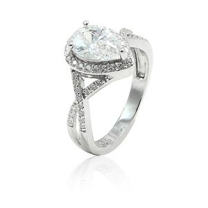 new beautiful 1 carat pear shape solitaire from s